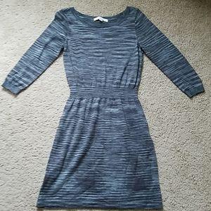 Women's Small Gray Ann Taylor Loft Knit Dress